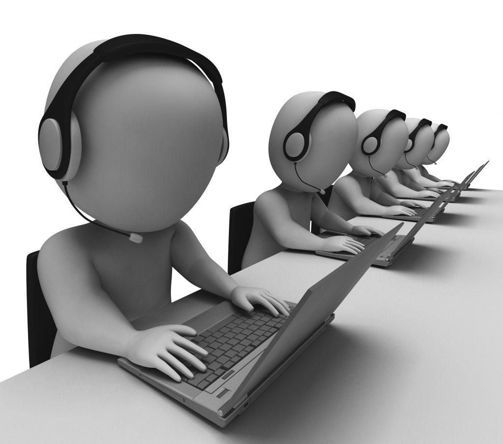 Helpdesk Hotline Operators Show Call Center Salesforce Service Cloud